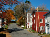Town Street in Autumn  Lunenburg  Canada