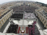 Crowds Pack St Peter's Square at the Vatican