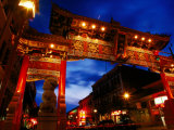 Chinatown Main Gate at Night  Victoria  Canada