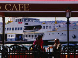 Cafes on Ortakoy Waterfront  Istanbul  Turkey