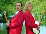 Status Quo Wearing Red Coats at Butlin's Holiday Camp  September 1990