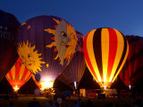 Flames Light up the Evening as Hot Air Balloonists Participate