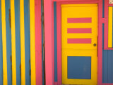 Colorful Doorway  New Providence Island  Bahamas  Caribbean