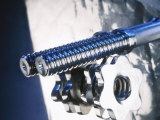 Close-up of Steel Bolt and Screw