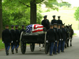 Caisson and Honor Guard on the Way to a Burial Site