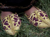Girl's Embroidered Babouches (Slippers)  Morocco