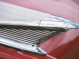 Vintage Chrome Fin on Sleek Red Car