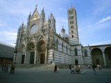 The Cathedral in Siena is a Mixture of Gothic and Romanesque Styles