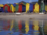 Colorful Bathing Huts  Cape Town  South Africa