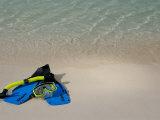 Blue Snorkeling Gear  Renaissance Island  Aruba  Caribbean