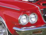 Headlight in Red Car