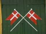 Denmark  Dannebrog  Danish Flag on the Doors of Rescue Station