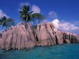 Tropical Shoreline of St Pierre Islet  Seychelles