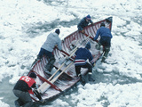 Rowing Competition in Quebec City Winter Carnival  Canada