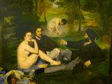 Edouard Manet's Le Dejeuner sur l'herbe in Musee d'Orsay  Paris  France