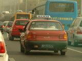 A Taxi in Traffic