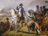 Painting of Napoleon in Hall of Battles  Versailles  France