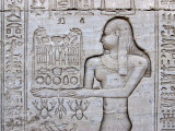 Queen Cleopatra and Stone Carved Hieroglyphics  Egypt
