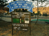 Sign for a Single-Hole Golf Course at Camp Bonifas on the Dmz