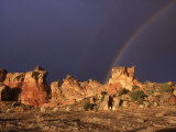 A Double Rainbow after a Storm Over an Ancient Anasazi Site