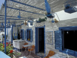 Breakfast Bar with Bird Cages  Thira  Cyclades Islands  Greece