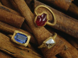Cinnamon Bark Shows off Rings of Ruby  Diamond and Sapphire Found in the Wreckage