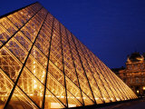 Grande Pyramide at the Musee Du Louvre  Paris  France