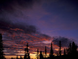 Solstice Sunset atop Midnight Dome  Dawson City  Yukon  Canada