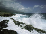 Heavy Surf Pounds a Rocky Coastline