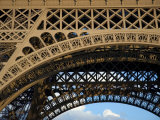 Close View Detail of the Cast Iron Eiffel Tower