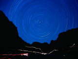 Star Trails withMountains at Night
