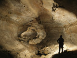 Cavers Stand in the New Discovery Bore Hole of Mammoth Cave