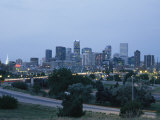 View of the Denver Skyline at Twilight