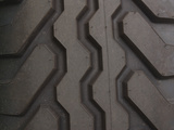 Close-up of Thick Black Tire Tread