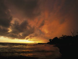 Dramatic View of the Pacific Ocean at Sunset on the Osa Peninsula