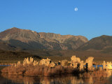 Moon Over Sierra Mountain Range  CA