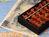 Japanese Currency  Map and Abacus