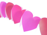 Red and Pink Paper Hearts
