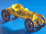 Yellow Toy Tin Car