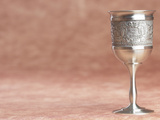 Elegant Silver Shabbat Cup with Hebrew Engraving