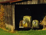 Vintage Automobile Is Parked in a Barn