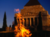 The Eternal Flame at the Shrine of Remembrance  Melbourne  Victoria  Australia