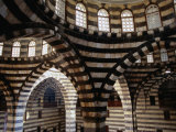 Inside Striped Domes of Khan Assad Pasha Built Between 1751-53  Old City  Damascus  Syria