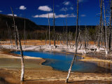 Black Sand Basin and Opalascent Pool  Yellowstone National Park  Wyoming  USA