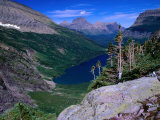 Lake Ellen Wilson and Canyon Walls  Glacier National Park  USA