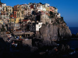 "Views of Cliff-Top Village from Via Dell"" Amore  Manarola  Italy"