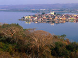 City on Island  Lago De Peten Itza  Flores  Guatemala