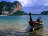 Traditional Boat in Ao Rei Leh (Bay of Railay)  Rai Leh Bay  Thailand