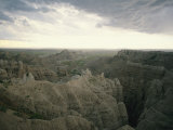 A Storm Moves over Sheep Mountain Table in Badlands National Park