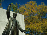 Bronze Statue of Theodore Roosevelt with Yellow Oak Leaves